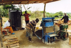 Making Bricks in Nigeria